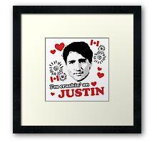 I'm Crushin' on Justin Trudeau Framed Print