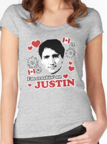 I'm Crushin' on Justin Trudeau Women's Fitted Scoop T-Shirt