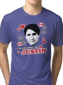 I'm Crushin' on Justin Trudeau Tri-blend T-Shirt