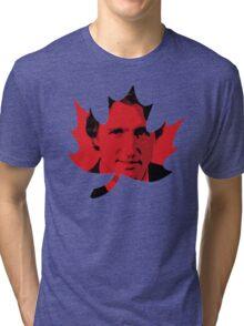 Justin Trudeau Maple Leaf Tri-blend T-Shirt
