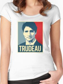 Trudeau Poster Art Women's Fitted Scoop T-Shirt