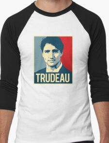 Trudeau Poster Art Men's Baseball ¾ T-Shirt