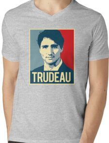 Trudeau Poster Art Mens V-Neck T-Shirt