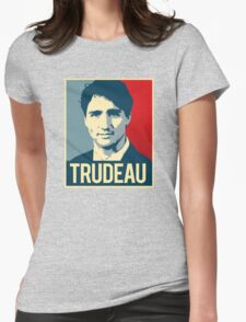 Trudeau Poster Art Womens Fitted T-Shirt