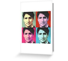 Justin Trudeau Pop Art Greeting Card