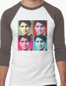 Justin Trudeau Pop Art Men's Baseball ¾ T-Shirt
