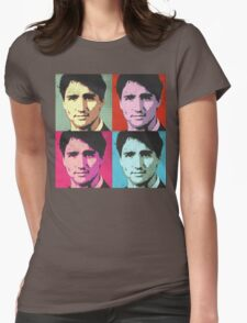 Justin Trudeau Pop Art Womens Fitted T-Shirt