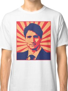 Justin Trudeau Propaganda Art Classic T-Shirt