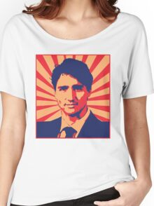Justin Trudeau Propaganda Art Women's Relaxed Fit T-Shirt