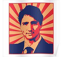 Justin Trudeau Propaganda Art Poster