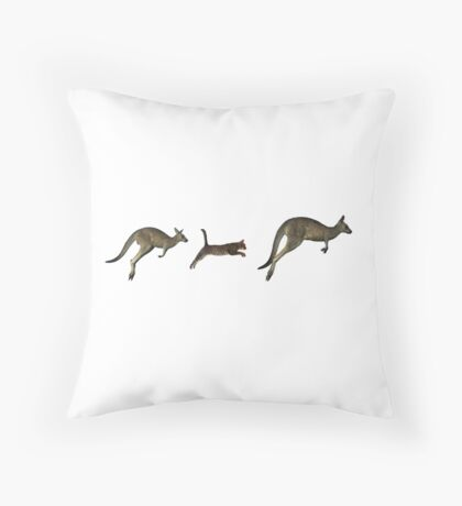 Three kangaroos? Throw Pillow