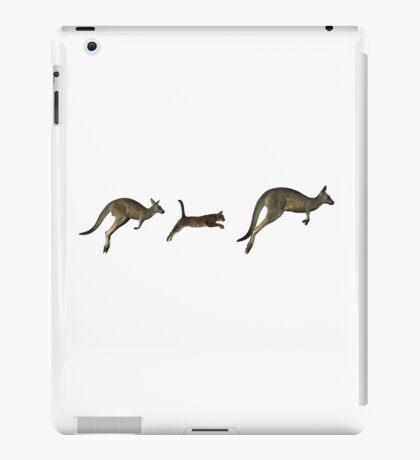 Three kangaroos? iPad Case/Skin