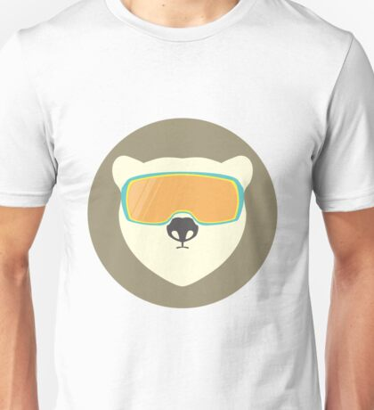Polar bear with ski mask. Unisex T-Shirt