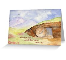 Easter Joy - Matthew 28:6 Greeting Card