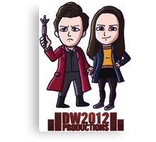 DoctorWho2012 Merchandise, Little Red & Meg Canvas Print
