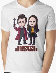 DoctorWho2012 Merchandise, Little Red & Meg Mens V-Neck T-Shirt