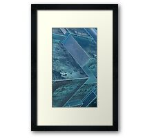 Blocky Blocks Framed Print