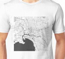 Melbourne City Map Gray Unisex T-Shirt