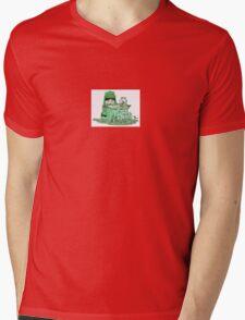 Color Kids - Green Mens V-Neck T-Shirt