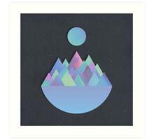 Moon Peaks Alternative Art Print