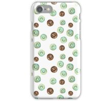 mint and chocolate donuts iPhone Case/Skin