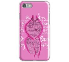 Be Badass after Breast Cancer iPhone Case/Skin
