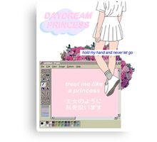 Princess Vaporwave AesthetIcs Canvas Print