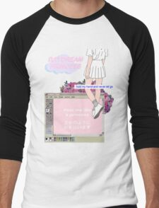 Princess Vaporwave AesthetIcs Men's Baseball ¾ T-Shirt