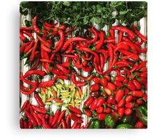 So many chiles... Canvas Print