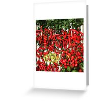 So many chiles... Greeting Card
