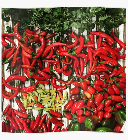 So many chiles... Poster