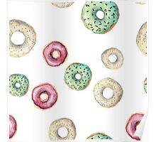 Frosted donuts Poster