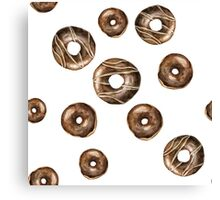 Chocolate frosted donuts Canvas Print