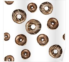 Chocolate frosted donuts Poster
