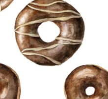 Chocolate frosted donuts Sticker