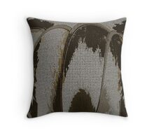 Metal Decay Two Throw Pillow