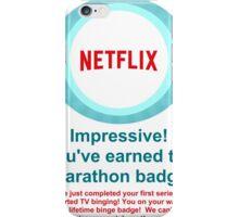 Netflix Binge Badge iPhone Case/Skin