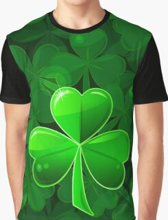 St. Patrick's Day with a green beautiful clover Graphic T-Shirt