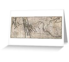 LEWIS & CLARK's HAND-DRAWN MAP OF DISCOVERY 1804 Greeting Card