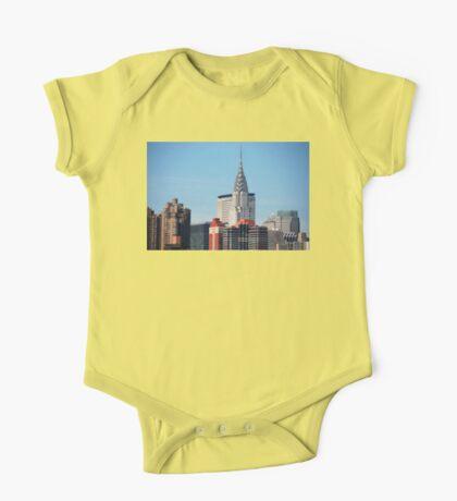 NYC - Chrysler & Met Life Buildings One Piece - Short Sleeve