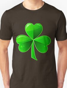 St. Patrick's Day with a green beautiful clover T-Shirt