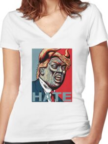 Trump Hate 2016 Women's Fitted V-Neck T-Shirt