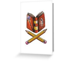 Booklovers Coat of Arms Greeting Card