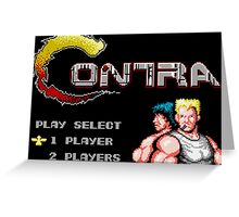 Contra (NES Title Screen) Greeting Card