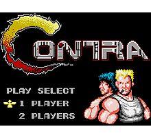 Contra (NES Title Screen) Photographic Print
