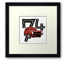 Retro 1970's gti hatchback car t-shirt Framed Print