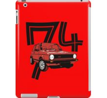 Retro 1970's gti hatchback car t-shirt iPad Case/Skin