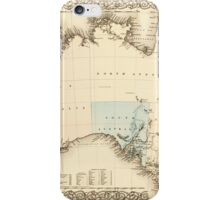 MAP of MYSTERIOUS AUSTRALIA  c. 1850 iPhone Case/Skin