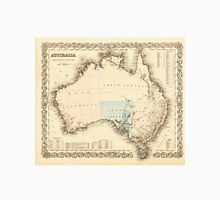 MAP of MYSTERIOUS AUSTRALIA  c. 1850 Unisex T-Shirt