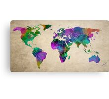 MAP of the WORLD ANTIQUE Metal Print